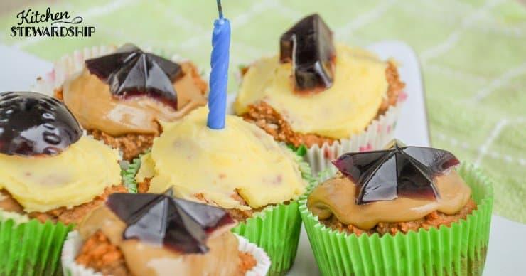 Parsnip birthday cupcakes
