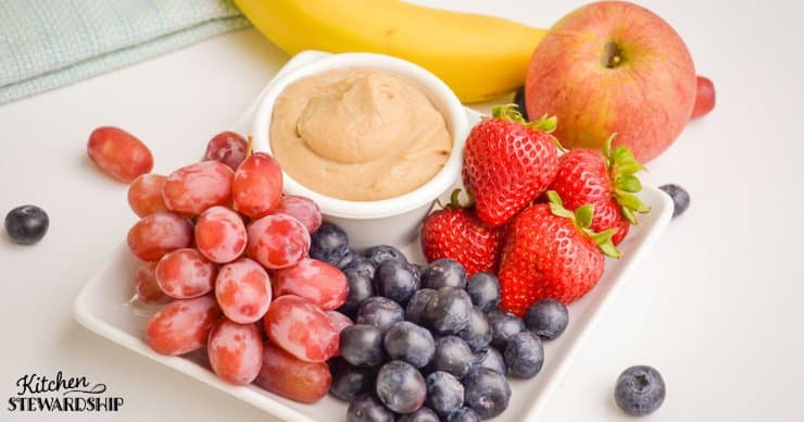 Fruit and hummus