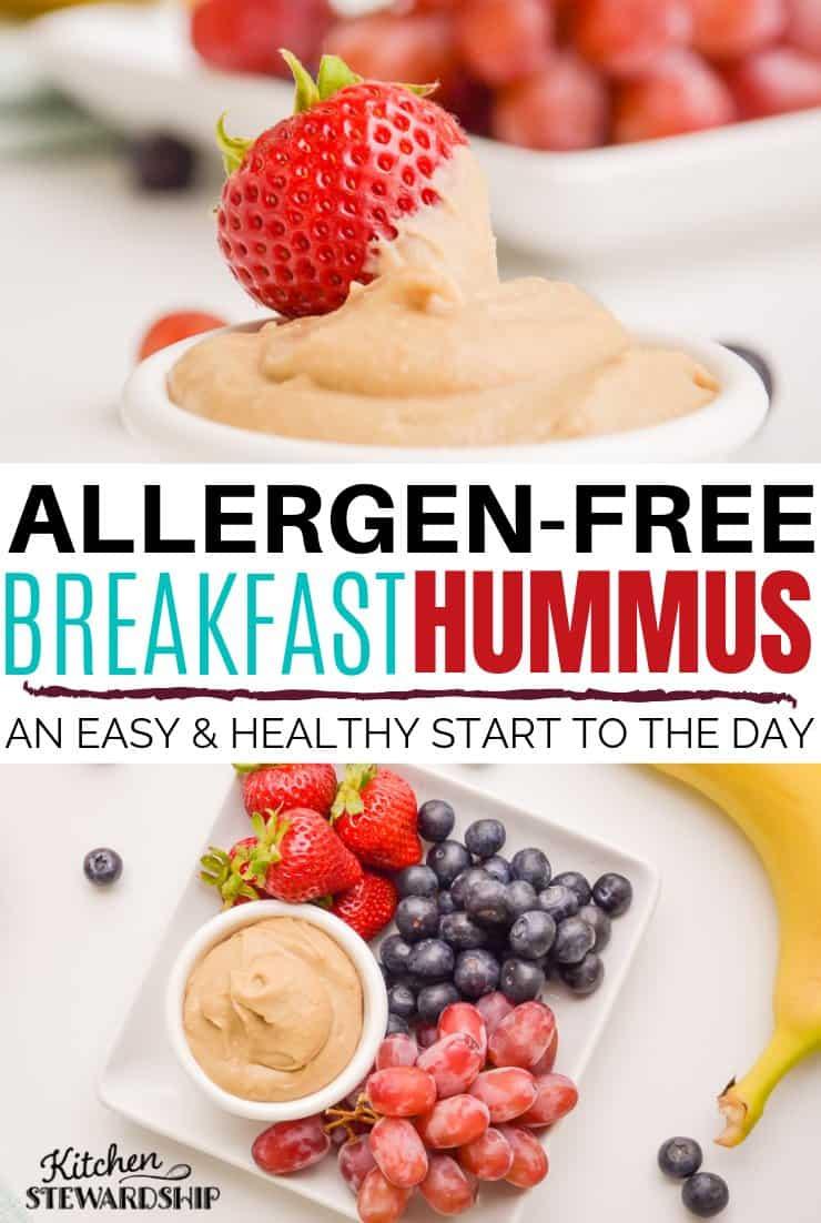 Allergen-free breakfast hummus