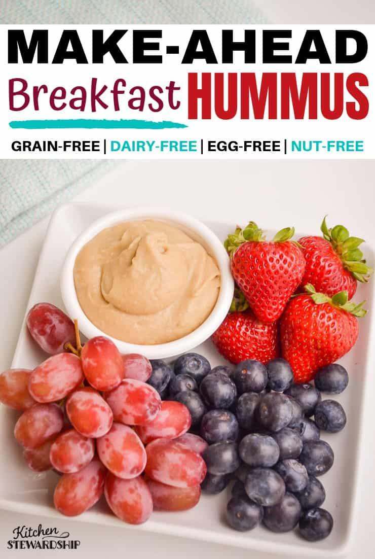 Make-ahead breakfast hummus
