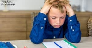 boy stressed about test