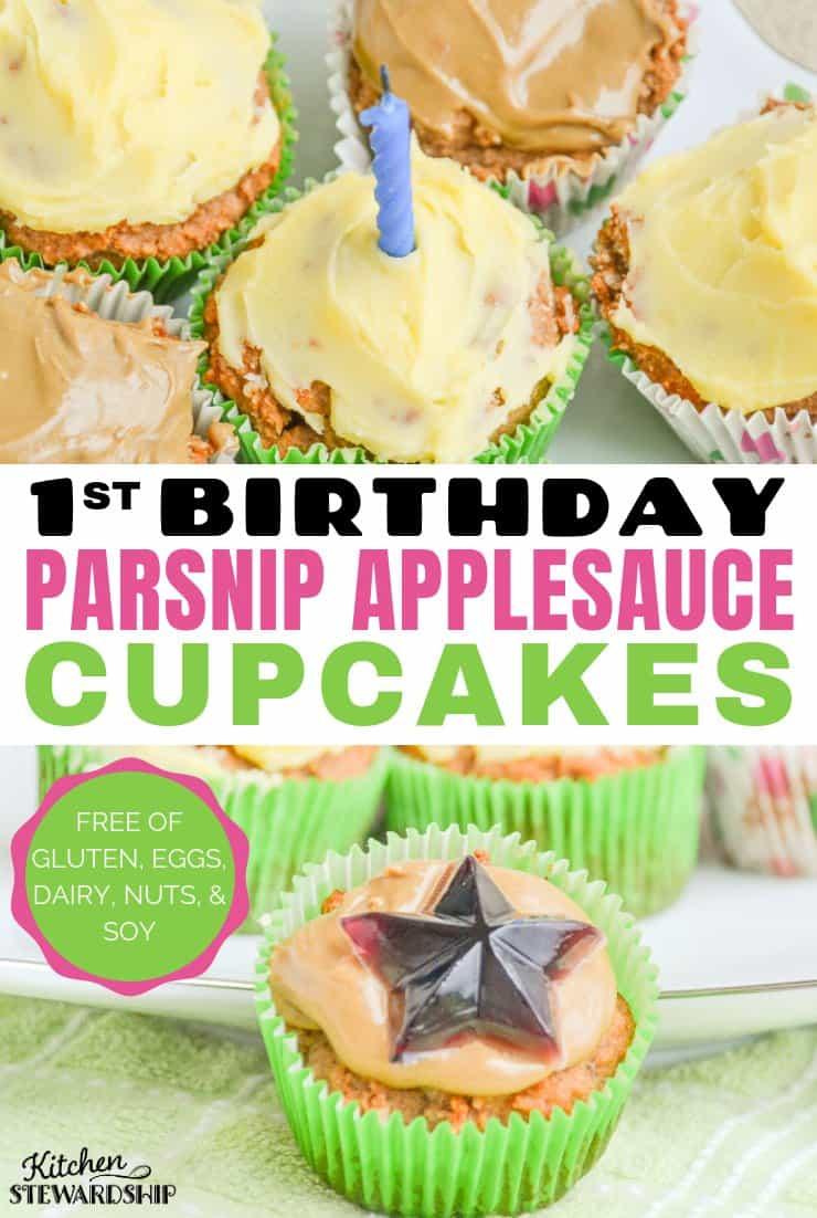 parsnip applesauce cupcakes