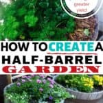 Grow your own organic produce on your deck with a half-barrel planter!