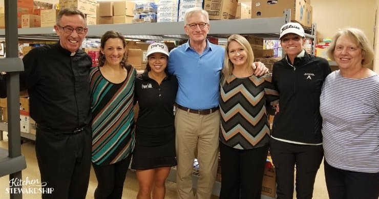 St Alphonsus Food Center Tour with Hank Meijer, Michelle Hatfield, and Jacqueline and Chris from the LPGA