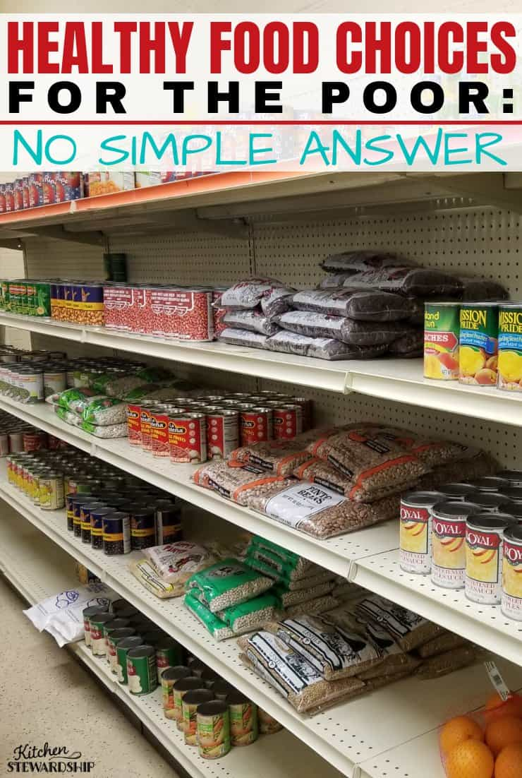 Healthy Food Choices for the Poor - No Simple Answer