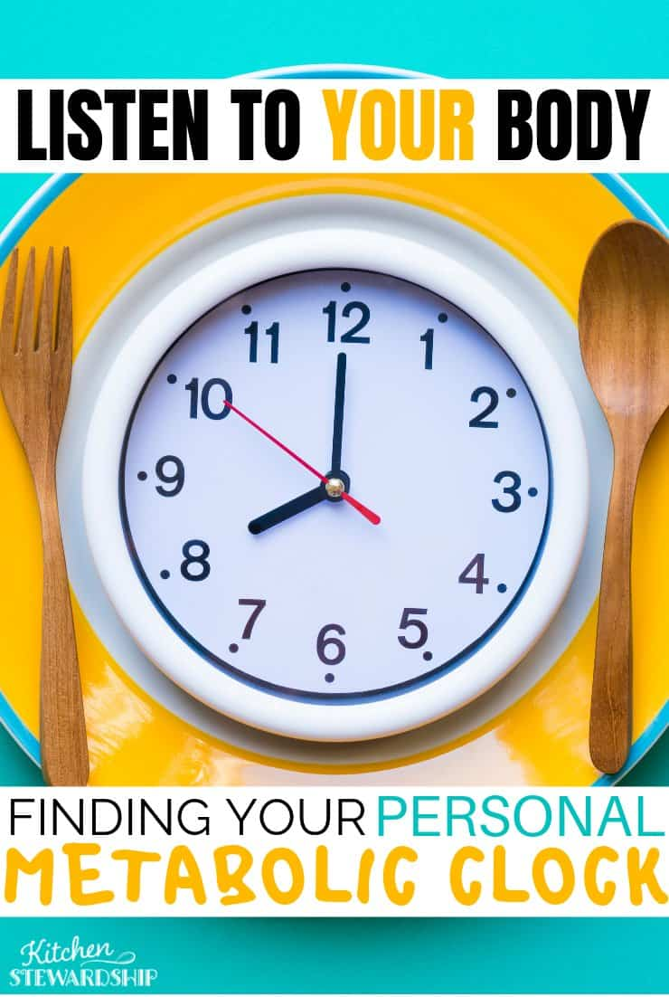 Listen to your body: finding your personal metabolic clock