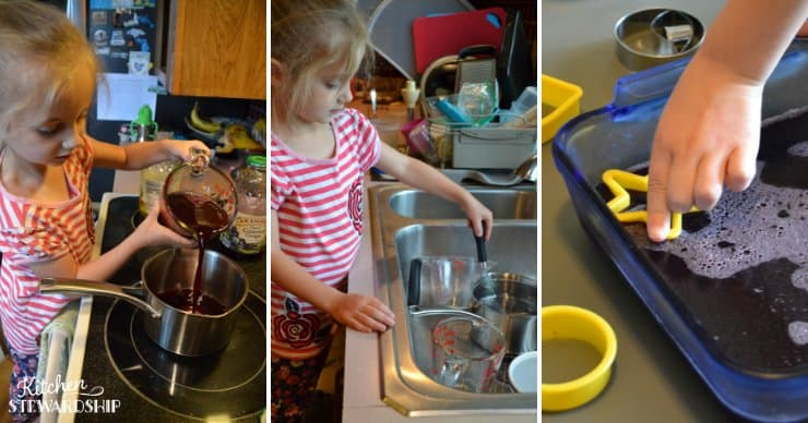 Child making gummy snacks