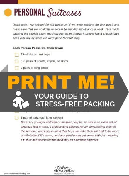 Print the Road Trip Packing List: Your Guide to Stress-Free Packing