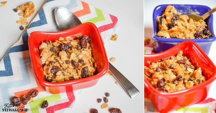 granola bar bowls breakfast