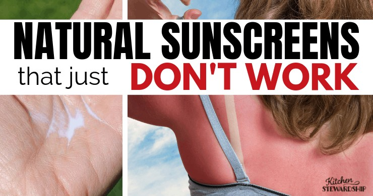 Natural Mineral Sunscreens That Just Don't Work