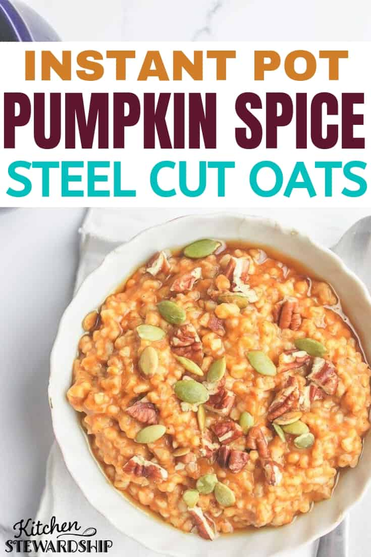 Instant Pot Pumpkin Spice Steel Cut Oats