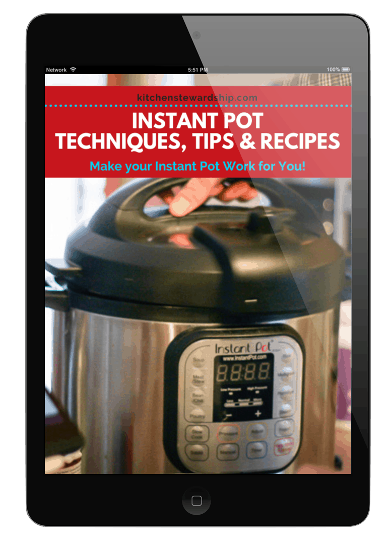 Instant Pot Guidebook cover on and iPad
