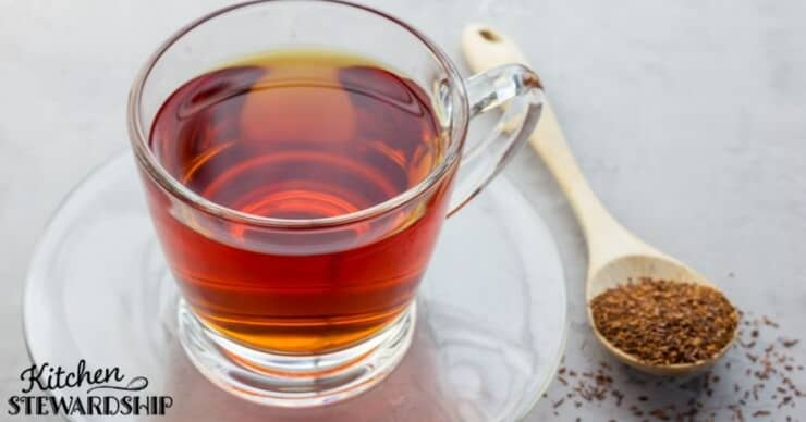 Cup of rooibos red tea