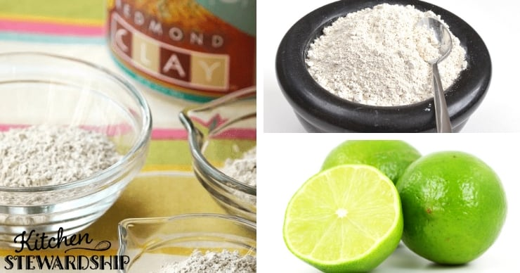Clay, diatomaceous earth and limes for a parasite cleansing cocktail