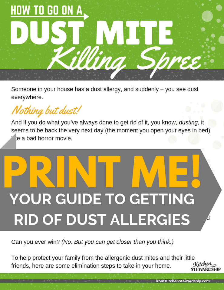 printable guide to getting rid of dust mites