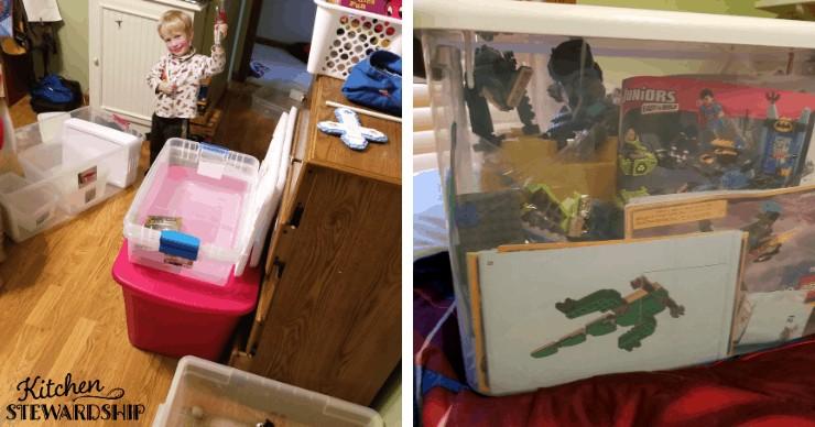 tubs to organize toys
