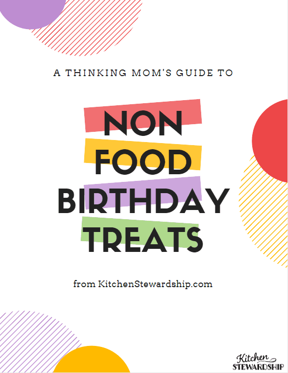 free download of non-food birthday treat list