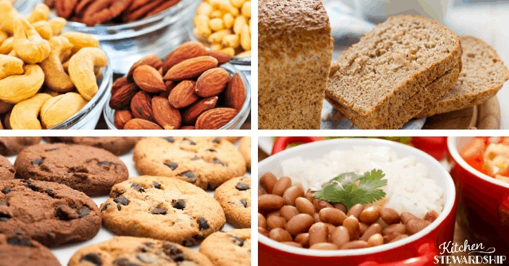 Cookies, beans, bread, almonds, and cashews are all difficult to digest.