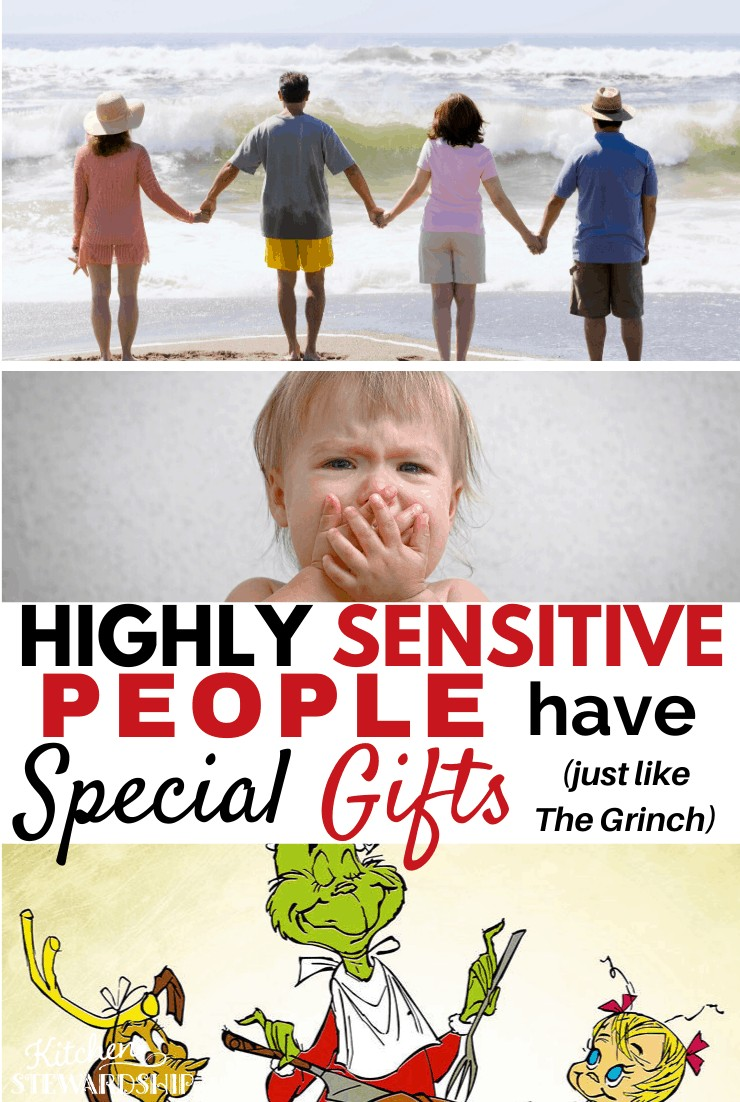 people holding hands, baby with hand over mouth, Grinch carving roast beast