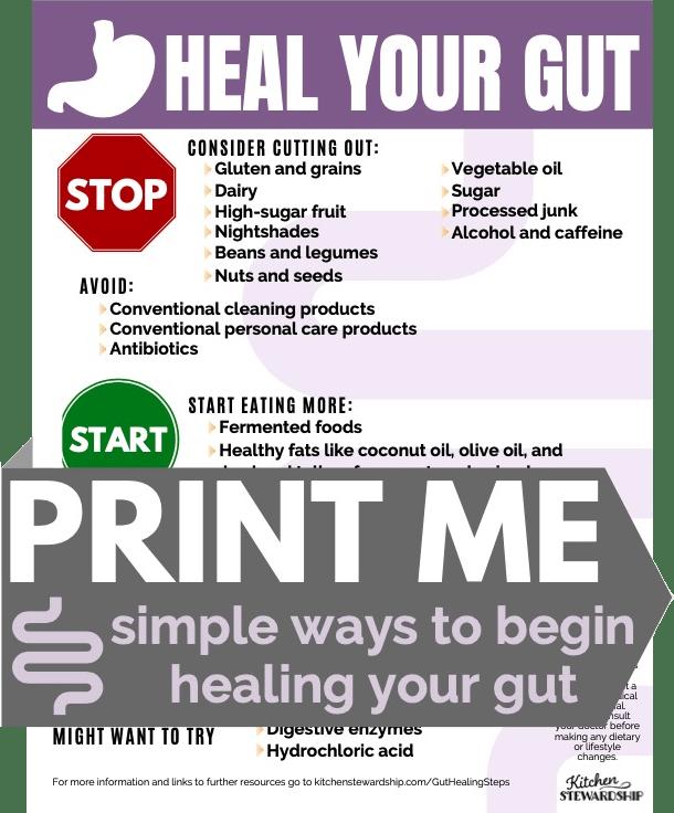 PRINT ME - Heal Your Gut Checklist