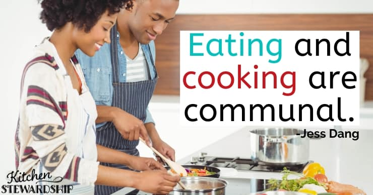 Eating and cooking are communal. Having a community behind you really makes a difference. -Jess Dang