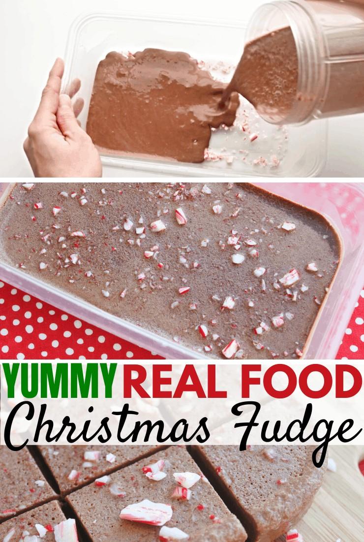 Yummy Real Food Christmas Fudge