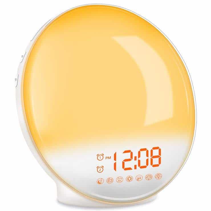 sunrise alarm clock at Amazon