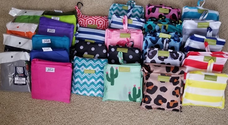 fold up reusable shopping bags for your purse