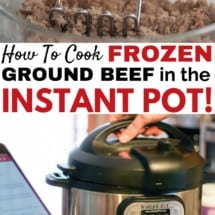How To Cook FROZEN Ground Beef in the Instant Pot {VIDEO}