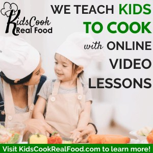 We teach kids how to cook with online video lessons!