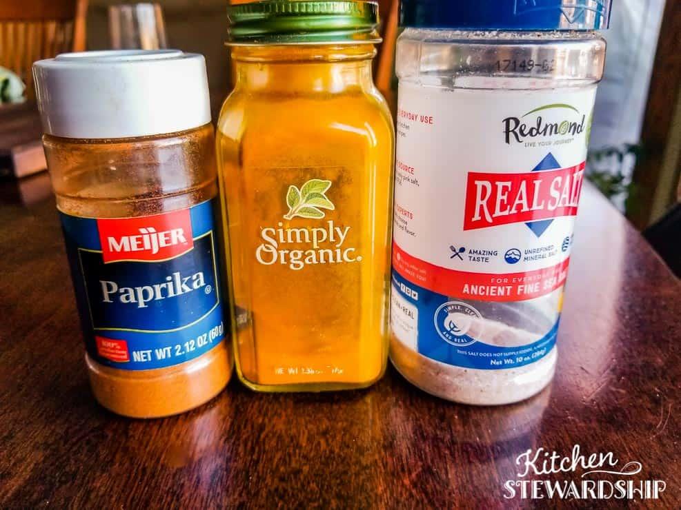 paprika turmeric Real Salt