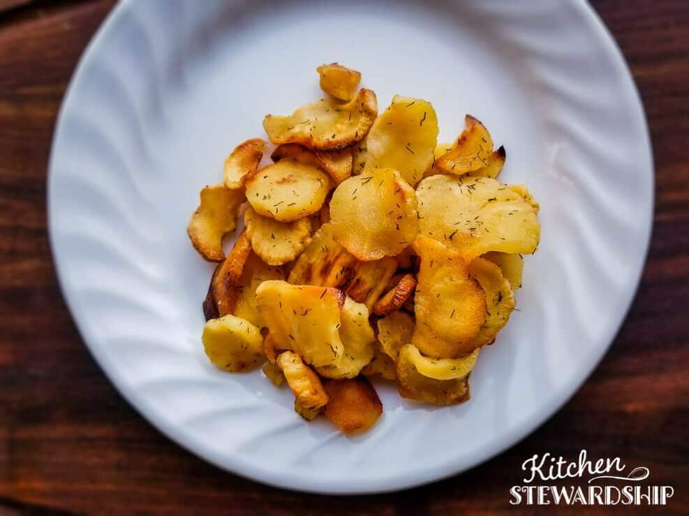 kid-friendly parsnip fries