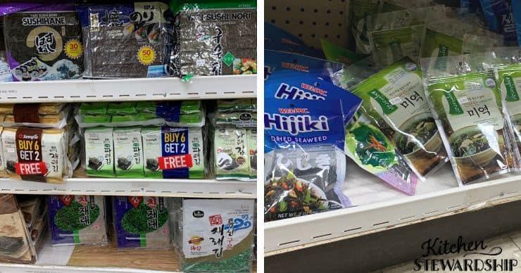 seaweed on the shelf