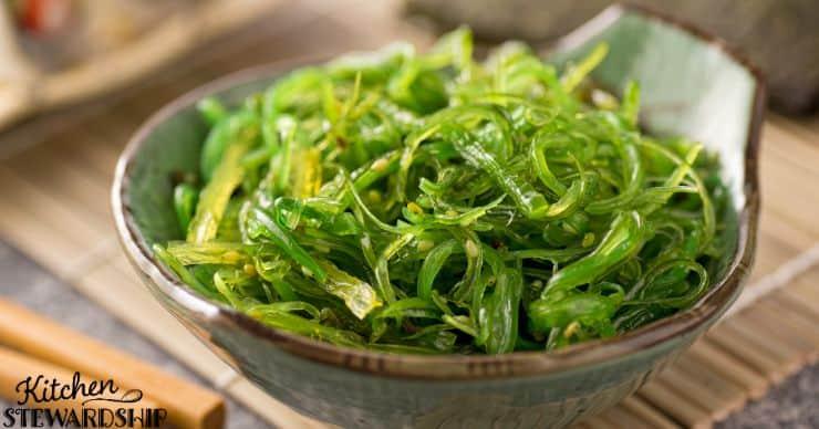 bowl of seaweed