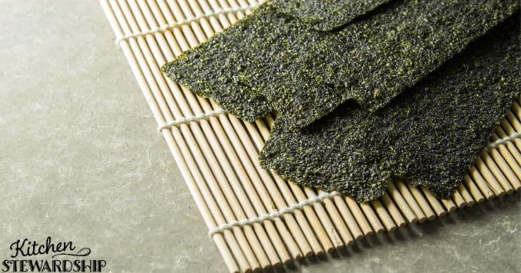 Sheets of seaweed