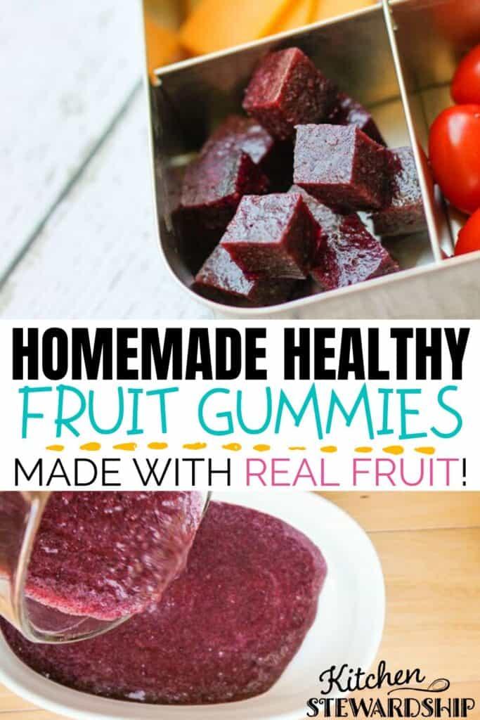 Homemade Healthy Fruit Gummies