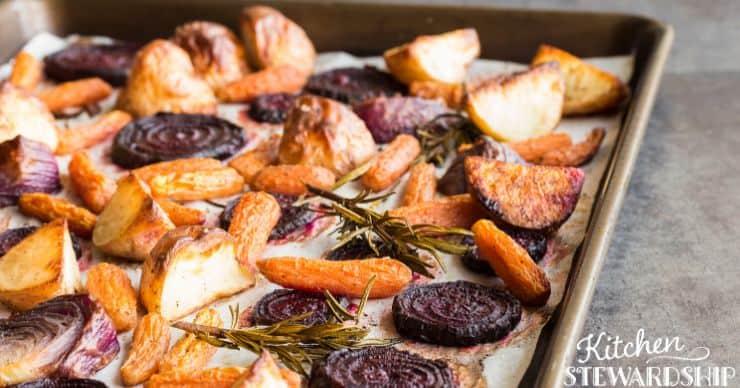 roasted long-lasting root vegetables