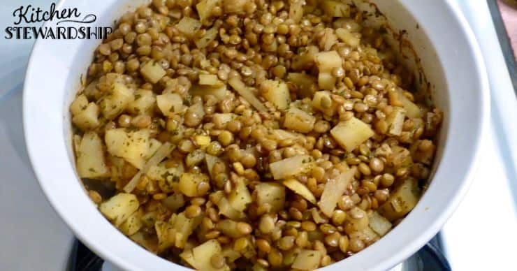 smokey lentil potato casserole recipe