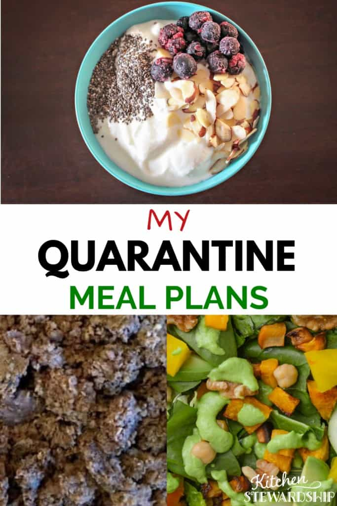 quarantine meal plan