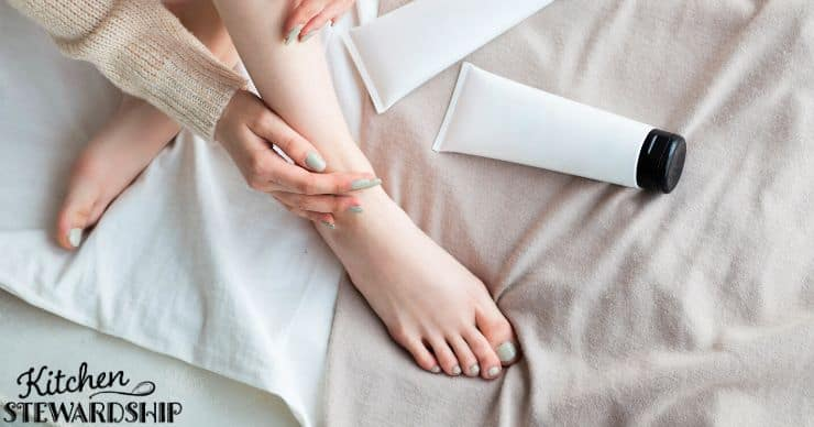 applying magnesium lotion for improved sleep