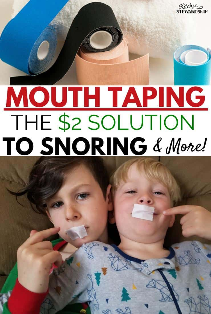 Mouth Taping - the $2 solution to snoring and more
