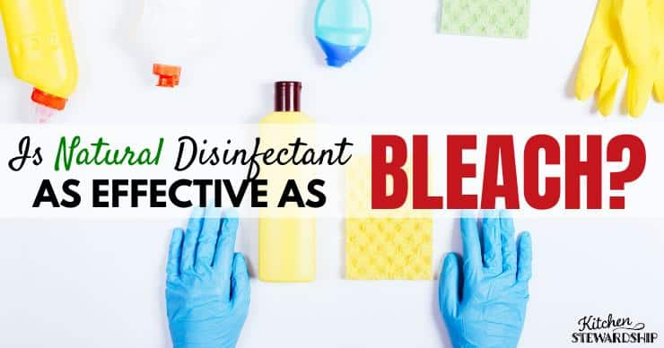 Is Natural Disinfectant as Effective as Bleach? Disinfect Naturally!