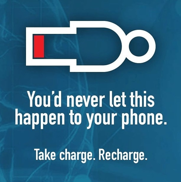 recharge yourself just like your phone battery