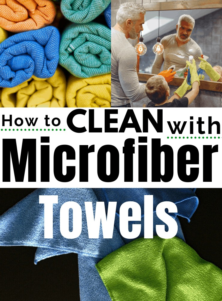 how to clean with a microfiber cloth
