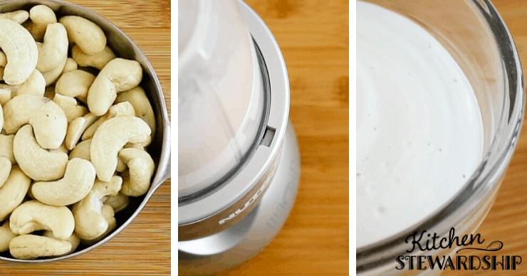 cashews, blender and cashew cream
