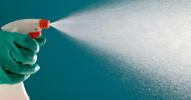 spray bottle of all purpose cleaner