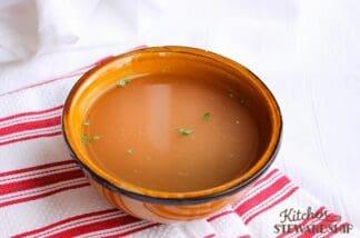 bowl of bone broth - bone broth in the Instant Pot