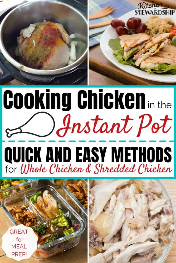 Cooking chicken in the Instant Pot.