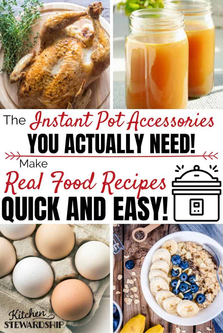 The Instant Pot accessories you actually need. Make Real Food Recipes quick and easy.