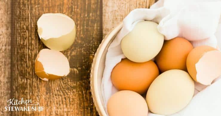 farm fresh eggs for hard boiling eggs in the Instant Pot